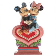 Jim Shore Disney Traditions,  Heart to Heart (Mickey & Minnie Mouse)